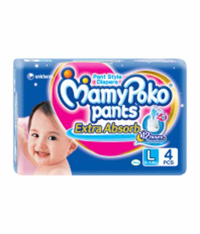 MAMY POKO PANTS EXTRA ABSORB LARGE - 4 PCS
