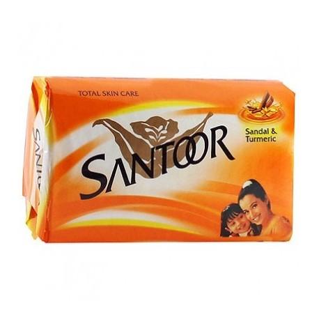 SANTOOR SOAP - SANDAL & TURMERIC - 100 GM