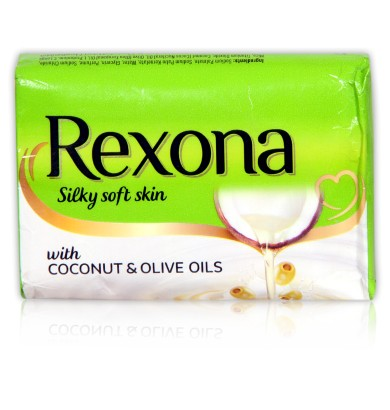 REXONA SILKY SOFT SKIN WITH COCONUT & OLIVE OILS - 100 GM