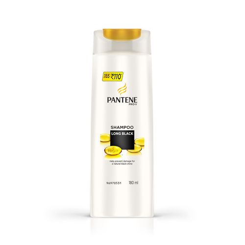 PANTENE ADVANCED HAIRFALL SOLUTION SHAMPOO - LONG BLACK  - 180 ML