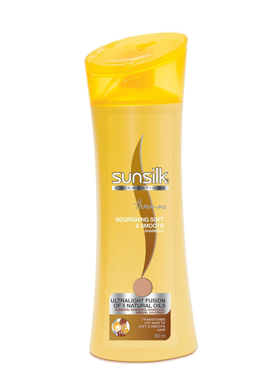 SUNSILK NOURISHING SOFT & SMOOTH SHAMPOO (YELLOW) - 180 ML
