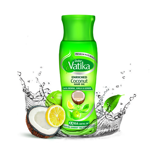 DABUR VATIKA ENRICHED COCONUT OIL WITH HENA AMLA AND LEMON HAIR OIL - 150 ML