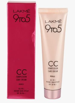 LAKME  9 TO 5 CC ( COMPLEXION CARE ) CREAM BRONZE - 9 GM