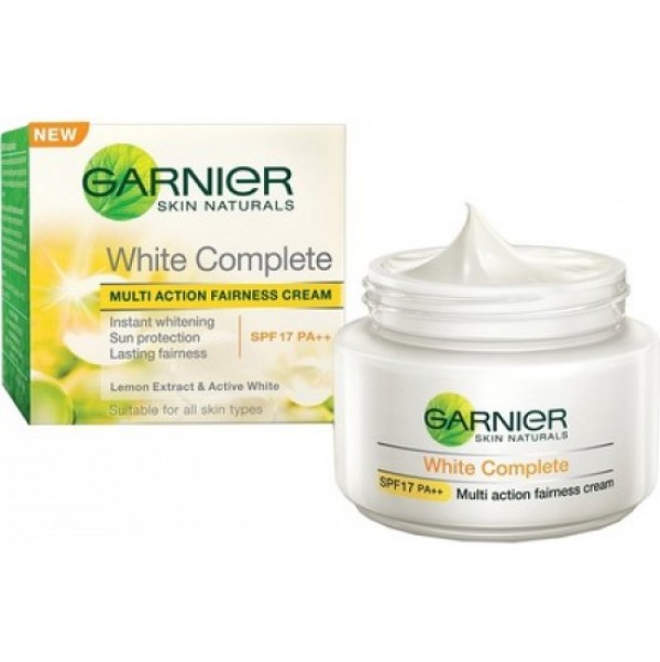 GARNIER SKIN NATURALS WHITE COMPLETE NIGHT CREAM - 40 GM