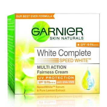 GARNIER SKIN NATURALS WHITE COMPLETE SPF 19 CREAM - 40 GM