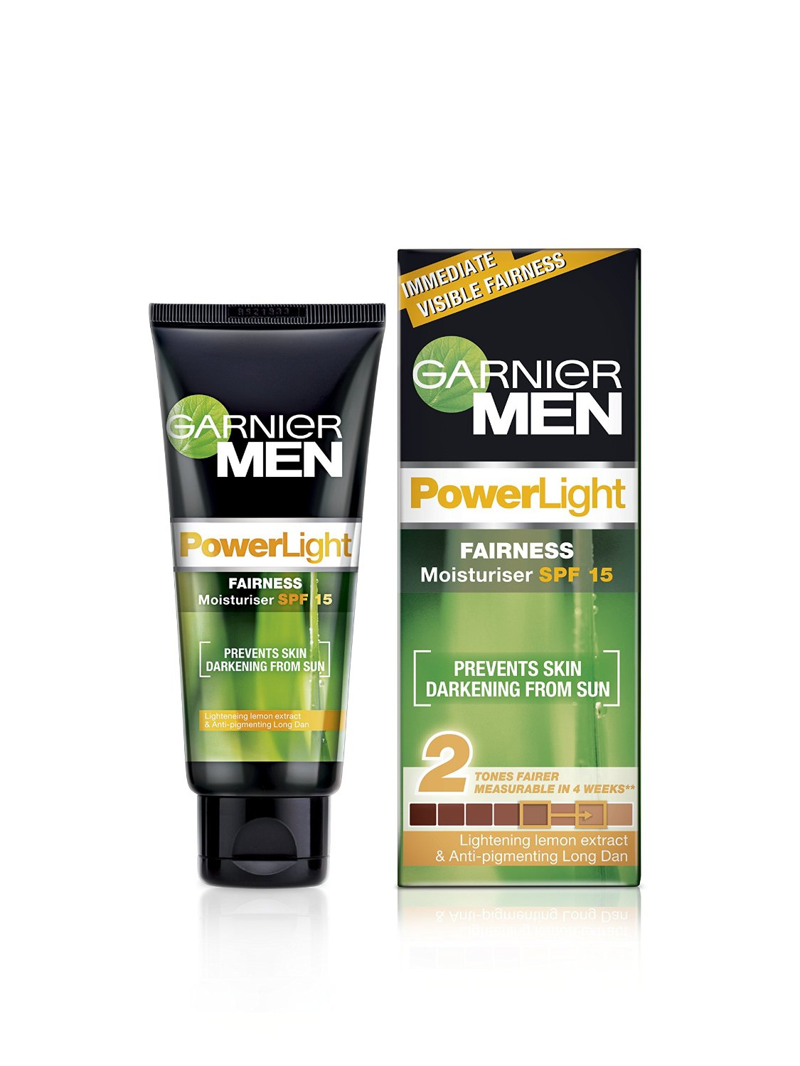 GARNIER MEN POWER LIGHT FAIRNESS MOISTURISER ( SPF 15 ) - 45 GM