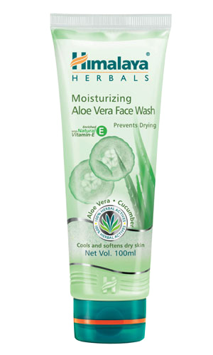 HIMALAYA MOISTURIZING ALOE VERA FACE WASH - 100 ML
