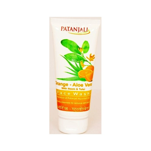 PATANJALI ORANGE ALOEVERA FACE WASH - 60 GM