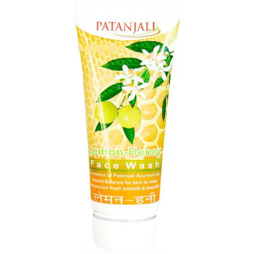 PATANJALI LEMON HONEY FACE WASH - 60 GM
