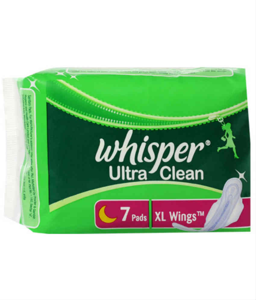 WHISPER ULTRA CLEAN XL WINGS SANITARY PADS - 7 PCS