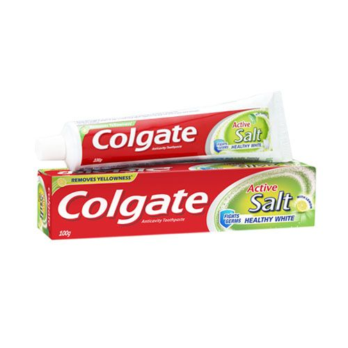 COLGATE ACTIVE SALT & LEMON WITH HEALTHY WHITE TOOTHPASTE - 100 GM