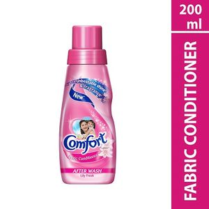 COMFORT AFTER WASH LILY FRESH FABRIC CONDITIONER  200 ML BOTTLE