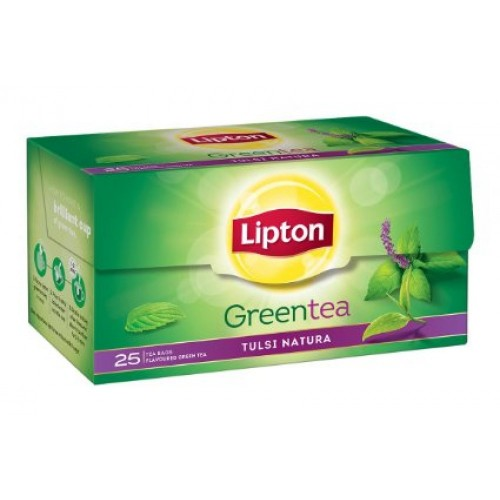 LIPTON GREEN TEA BAG (TULSI NATURA) CARTON - 25 PCS