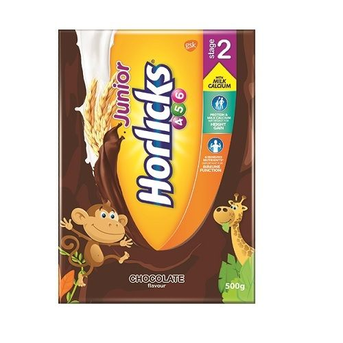 JUNIOR HORLICKS STAGE 2 CHOCOLATE FLAVOR - REFILL PACK - 500 GM