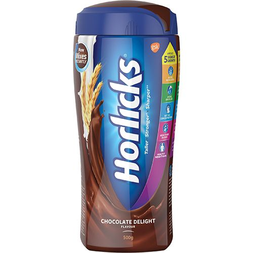 HORLICKS CHOCOLATE FLAVOR HEALTH DRINK - JAR - 500 GM