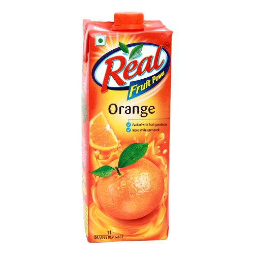 REAL FRUIT JUICE (ORANGE) - 1 LTR CARTON
