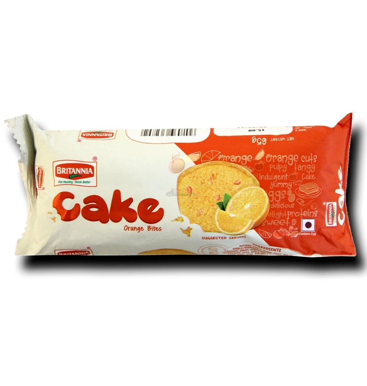 BRITANNIA CAKE ORANGE BITES - 45 GM