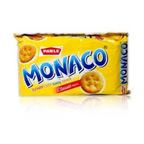PARLE MONACO BISCUITS - CRISPY LIGHT SALTY SNACK -  200 GM