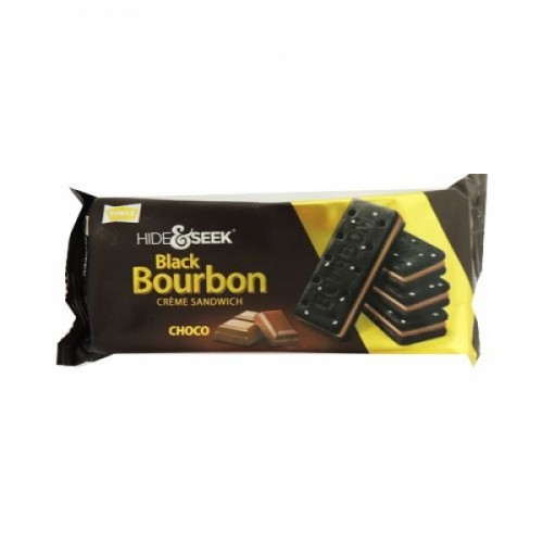 PARLE HIDE & SEEK BISCUITS - BLACK BOURBON CREAM SANDWICH - CHOCOLATE - 100 GM