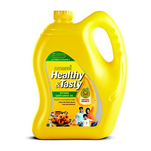 EMAMI HEALTHY & TASTY REFINED SUNFLOWER OIL - 5 LTR