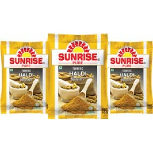 SUNRISE TURMERIC HALDI HALUD POWDER - 50 GM