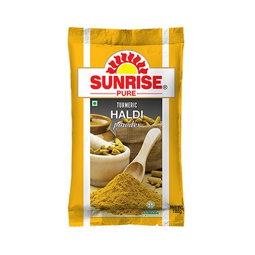 SUNRISE TURMERIC HALDI HALUD POWDER - 100 GM