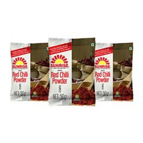 SUNRISE RED CHILLI POWDER - MIRCHI - LANKA - 50 GM