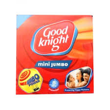 GOOD KNIGHT MINI JUMBO MOSQUITO COIL 8 HOURS - 10 PCS