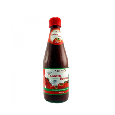 PATANJALI TOMATO KETCHUP BOTTLE (WITHOUT ONION & GARLIC) - 500 GM