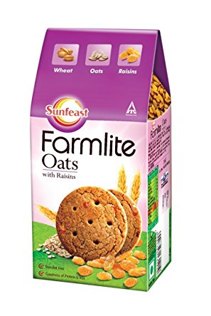 SUNFEAST FARMLITE BISCUITS - OATS WITH RAISINS - 150 GM