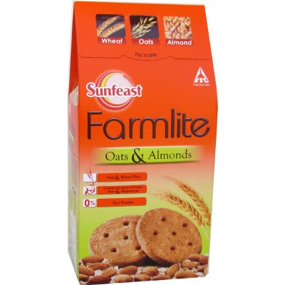 SUNFEAST FARMLITE BISCUITS - OATS WITH ALMONDS - 150 GM