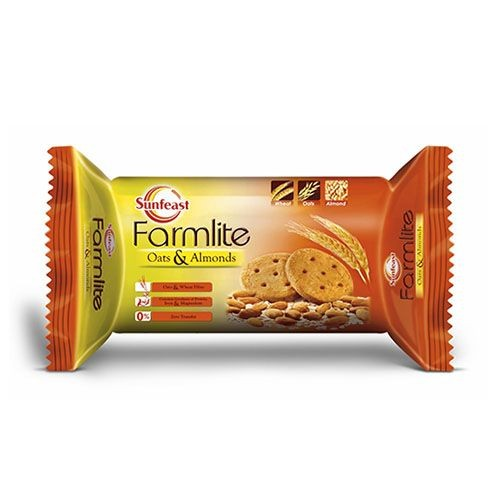 SUNFEAST FARMLITE BISCUITS - OATS WITH ALMONDS - 75 GM