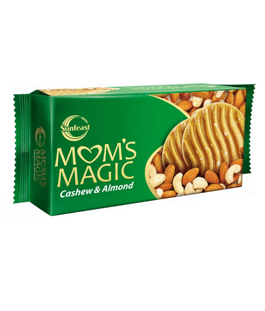 SUNFEAST MOMS MAGIC BISCUITS - CASHEW & ALMOND - 200 GM