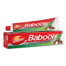 DABUR BABOOL PASTE WITH CLOVE - 80 GM FREE TOOTHBRUSH