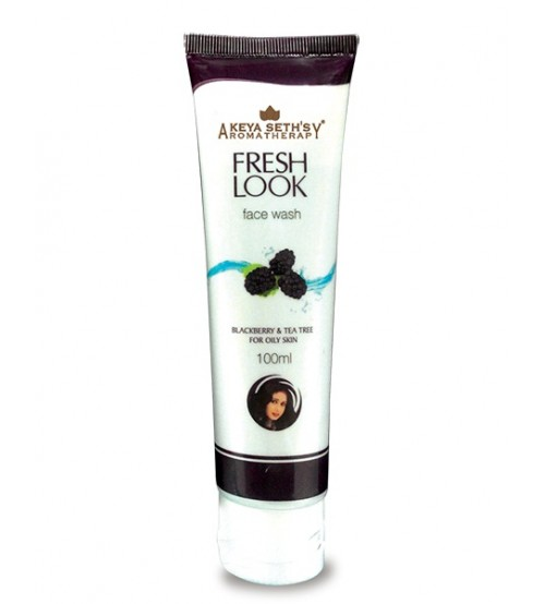 KEYA SETH FRESH LOOK BLACK BERRY AND TEA TREE FACE WASH - 50 ML