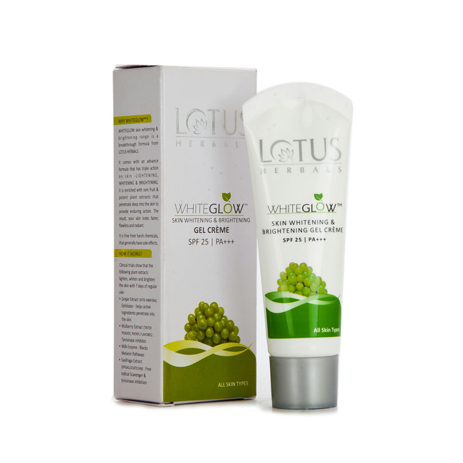 LOTUS HERBAL WHITE GLOW GEL CREAM - 18 GM