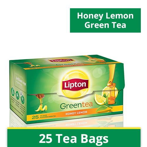 LIPTON GREEN TEA BAG (HONEY LEMON) - 25 PCS