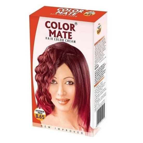 COLOR MATE HAIR COLOR CREAM COPPER RED 8.65 - 65 ML