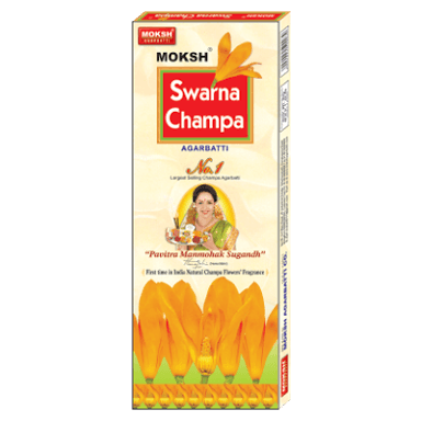 SWARNA CHAMPA INCENSE STICKS - DHUPKATHI - AGARBATTI - 110 GM FREE JUMBO MATCH BOX