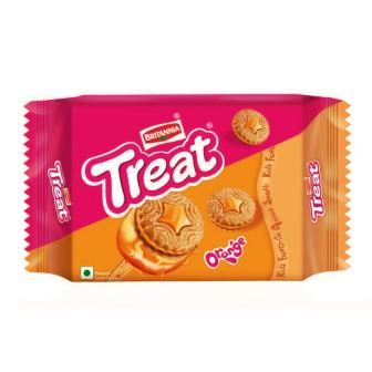 BRITANNIA TREAT - ORANGE BISCUITS - 150 GM