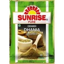 SUNRISE DHANIA DHANIYA POWDER - CORIANDER - DHONE - 50 GM
