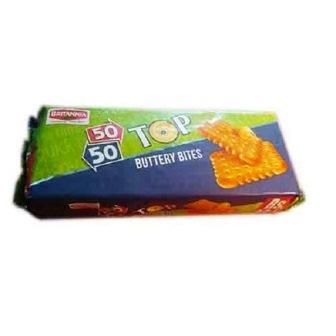 BRITANNIA 50 50 TOP BUTTERY BITES BISCUITS - 200 GM
