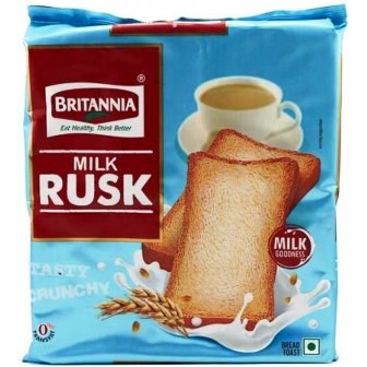 BRITANNIA MILK RUSK BISCUITS - 200 GM