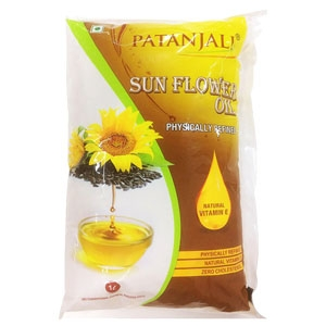 PATANJALI SUNFLOWER OIL REFILL - 1 LTR