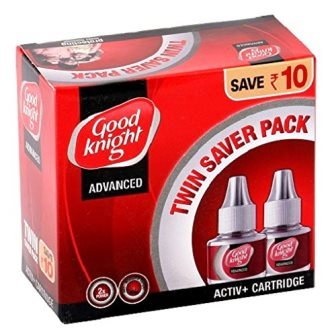 GOOD KNIGHT ACTIV LIQUID CARTRIDGE - TWIN SAVER PACK - 45 ML X 2