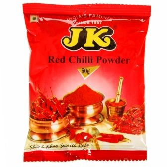 JK RED CHILLI POWDER - MIRCHI - LANKA - 50 GM