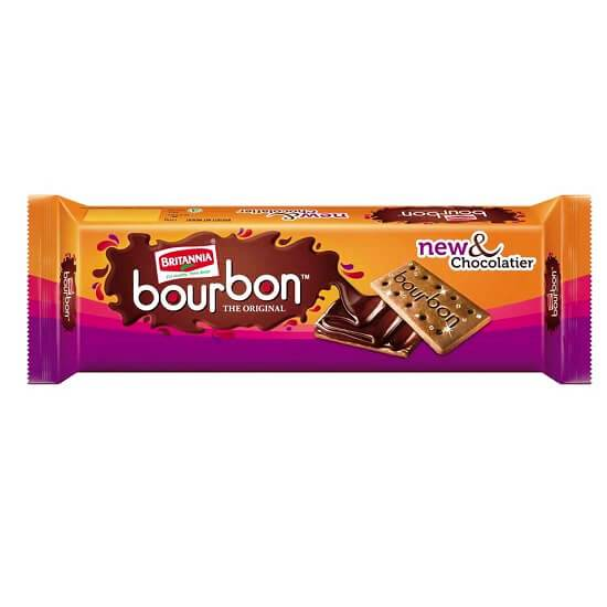 BRITANNIA BOURBON BISCUITS - NEW AND CHOCOLATIER - 150 GM