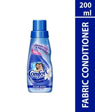 COMFORT AFTER WASH MORNING FRESH FABRIC CONDITIONER (BLUE) - 200 ML
