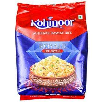 KOHINOOR ROYALE AUTHENTIC BASMATI RICE FOR BIRIYANI - 1 KG