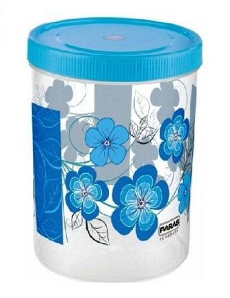 PLASTIC CONTAINER WITH SPOON 1500 ML (COLOR MAY VARY) - 1 PC